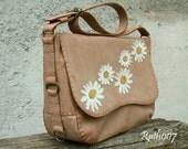 "Hand stittched leather handbag ""Primula"""