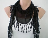 Black Scarf Womens Scarves Cotton Scarf