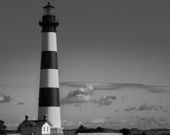 Bodie Lighthouse - Fine Art Print - Black and White - 8x10