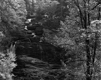 Culasaja Falls - Fine Art Print - Black and White - 8x10