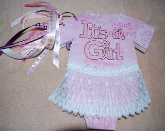 It's a GIRL onesie chip board album ... SALE