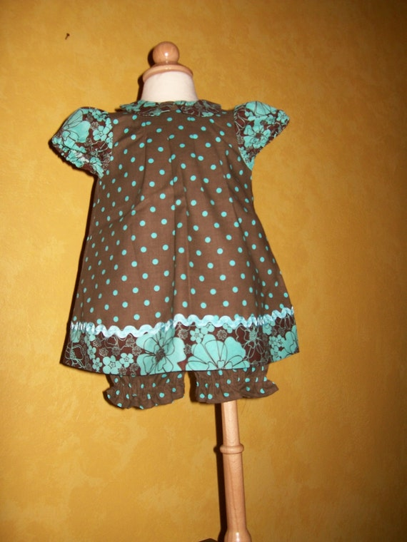 Fun in the Sun Baby Dress, Panties, and Bonnet - Infants Size 6 Months