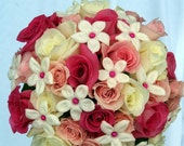 Rose and Stephanotis Bridal Bouquet by Green Orchid Design Studio