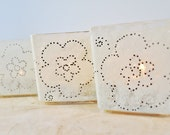 """3 Wedding Candle Holders, Lighting, """" Vintage Inspired"""", Ivory and Black by Green Orchid Design Studio"""