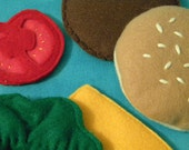 Eco Friendly Felt Food Cheeseburger