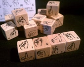 Wood Alphabet Sign Language Crossword Cubes Game Kopptronix