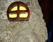 window goes with a Fairy Door, Gnome Door, Hobbit Door, Elf Door, Troll Door.
