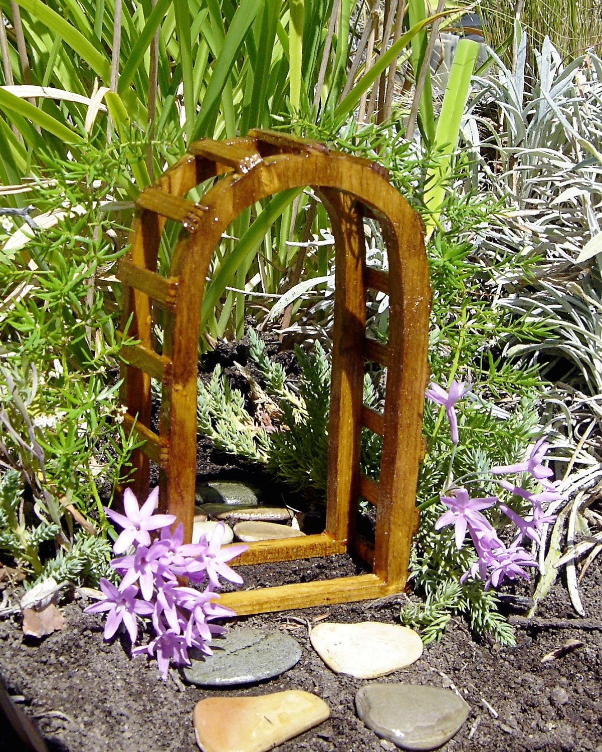 Items similar to miniature garden arbor goes with a fairy for Fairy door kits canada