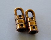Copper Cord Ends Plated End Cap Crimps 2.5MM No Lead Nickle 3 pair