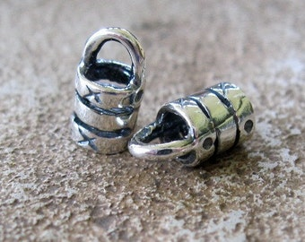 3.5 MM Sterling Silver Cord End Caps Crimp Style 2 Pieces