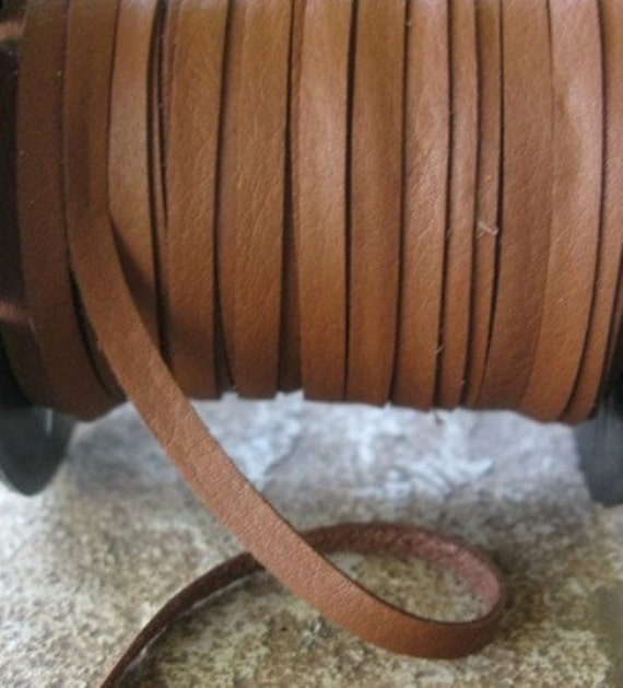 Italian Calf Deertan Deerskin Lace 3MM Brown Jewelry Craft Cord 3 yd