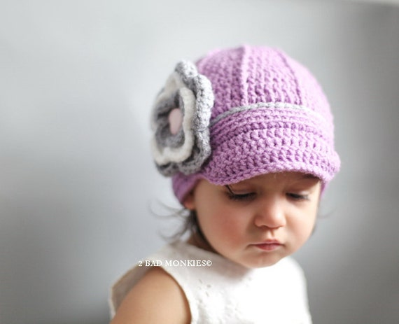 Toddler hat for girls - Newsboy Toddler Hat - Baby Newsboy Hat - Winter Hat - Girls winter hat, Crochet Newborn Hat - Girls hats