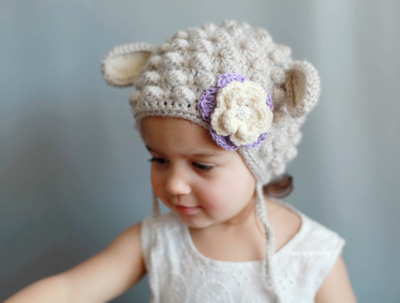 Crochet Pattern For Baby Lamb Hat : Lamb hat baby Lamb hat newborn Lamb hat sheep hat by ...