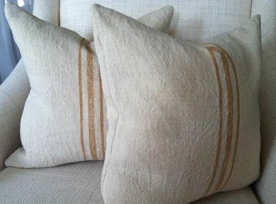 Antique Hemp Linen Pillow Cover