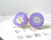 Lavender Studs Japanese Chiyogami Paper beautiful blooms