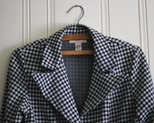 Vintage Houndstooth Blazer Jacket