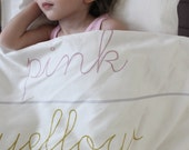 ORGANIC Toddler Bedding set - Learn Your Colors, white/multicolor
