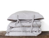 Toddler Bedding set - solid flax linen