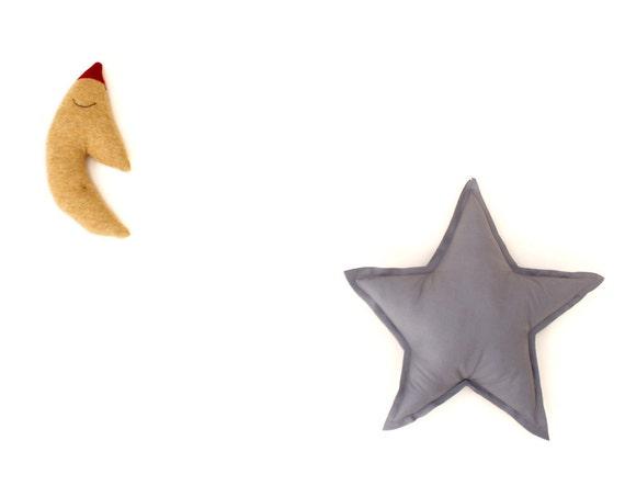 Good Night Moon, Sleepy Moon and Star set - baby shower gift