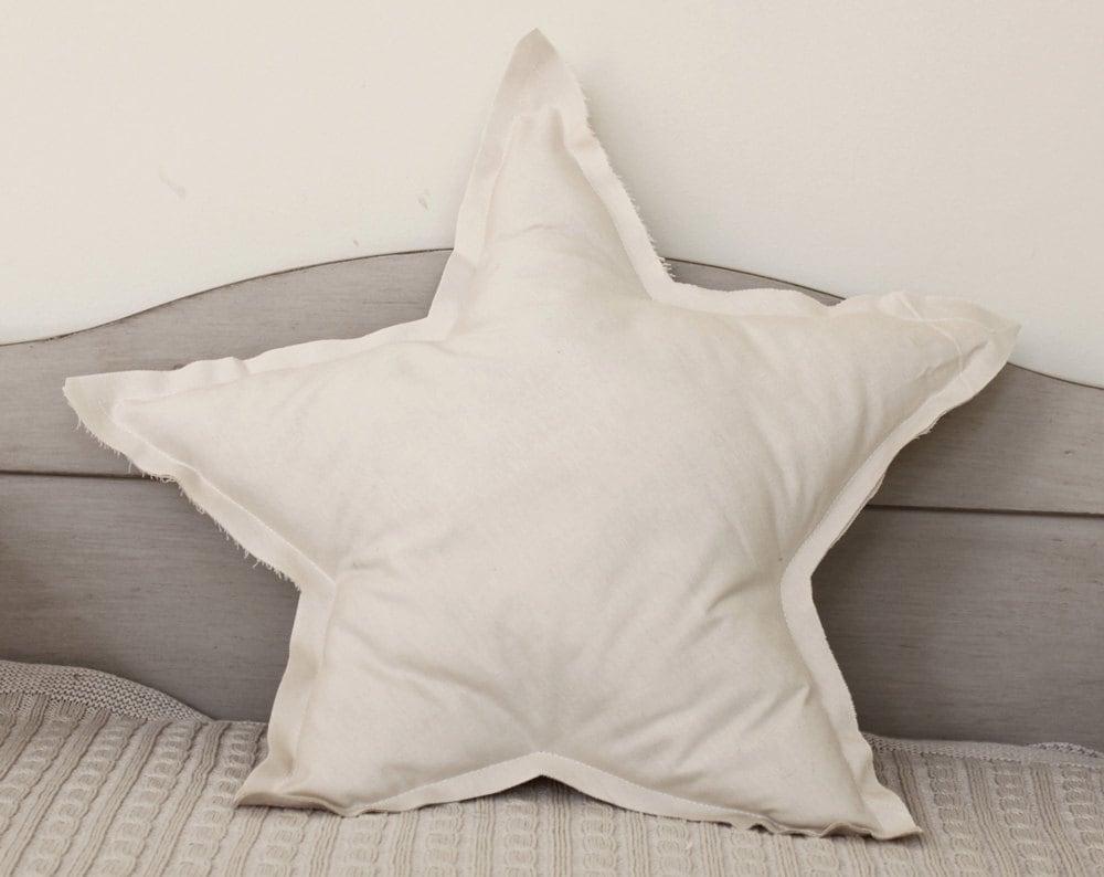 Star Shaped Pillow Or Cushion Cream Soft Cotton