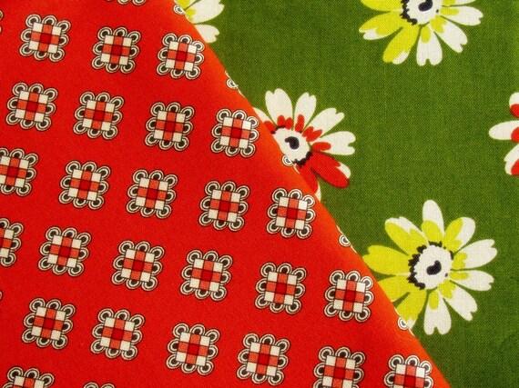 Denyse Schmidt Fabric 1 Yard DS Quilts Daisy Mae Fancy Block Orange