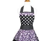 Vintage Aprons - Purple Paisley Cute Apron