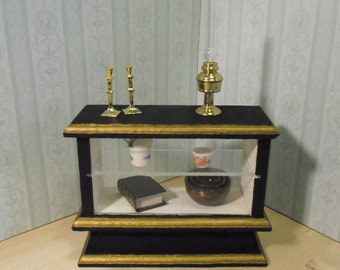Dollhouse Miniature Shop Counter. Made by Linda Elgenes by Snowflake Miniatures.