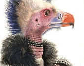 If it was rotten, Johnny was there (5x7 archival print of a punk vulture)