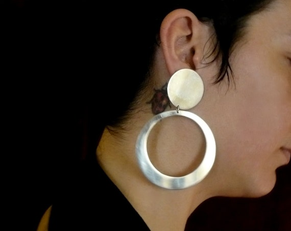 large internal cut circle earrings