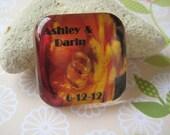Custom magnet - Wedding invite save the date