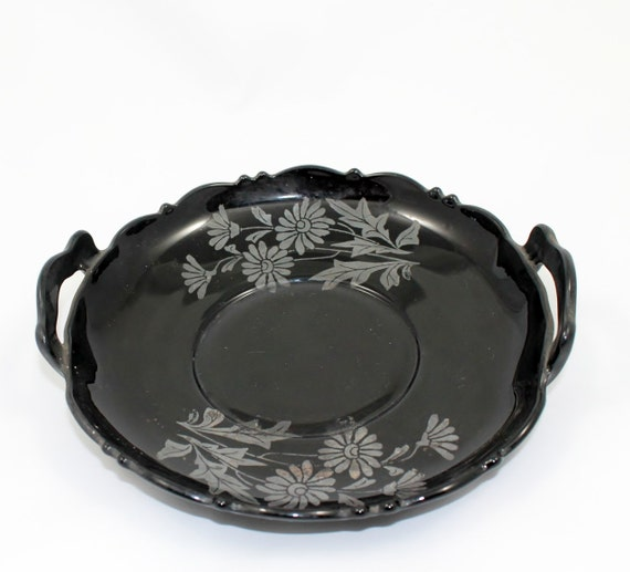 Items Similar To Vintage Plate Black Amethyst Depression