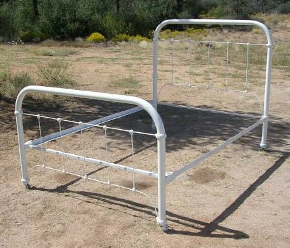 """Antique Ornate Iron Bed   """" NOW DISCOUNTED"""""""
