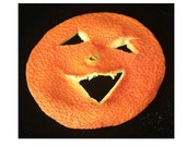 "Orange Halloween pin ""Ha Ha That's Funny - ""BOO"""