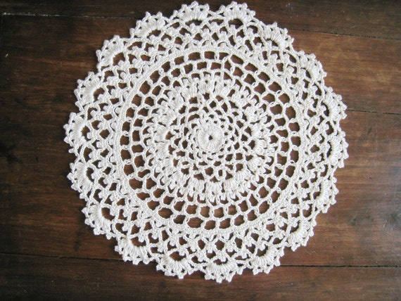 Crochet Doily Round Lace Doily Table Centerpiece Table