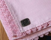 Tablecloth Pink ,home decor , polka-dotted,Square size ,cotton,eco friendly
