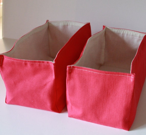 Fabric Storage Basket Organizer ,Pink