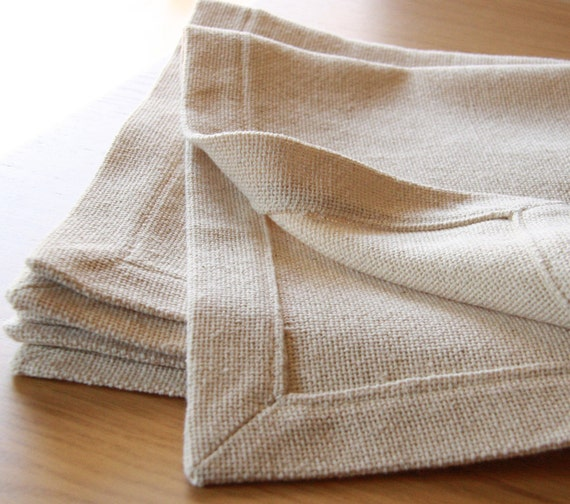 Placemat ,Table top ,Home decor,natural cotton ,eco friendly Set of 2