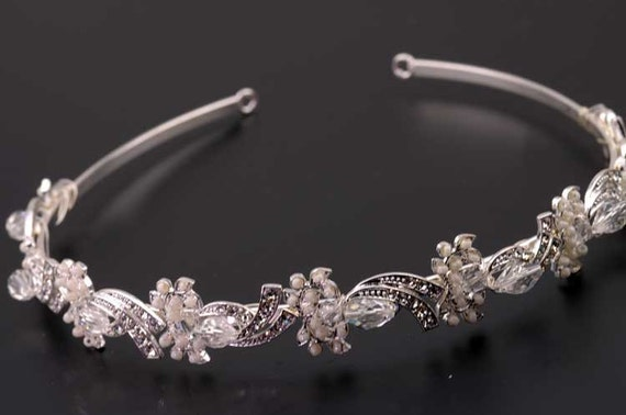 Vintage Inspired, Bridal Headband, Rhinestone Bridal Headband, Crystal Wedding Headband, Wedding Bridal Hair Accessories
