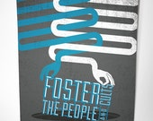 Foster The People, Cults and Reptar Concert Screen Print Poster