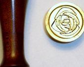 "Stamper  014 - 7/8"" Rose wax seal stamp"