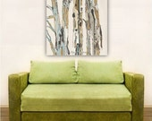 Large wall art white Giclee canvas Print canvas trees trunk artwork office kitchen bedroom laundry living dining room modern decor wholesale