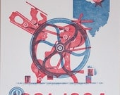 """Letterpress Poster """"Made in Cleveland, Ohio U.S.A."""" by Cranky Pressman"""