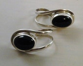 Sterling Silver and Onyx Earrings FREE Shipping