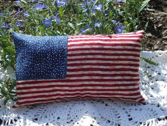 Americana Flag Pillow Stars and Stripes