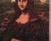 Mini Mona Lisa by Leonardo DaVinci Cross Stitch Replica - FREE SHIPPING