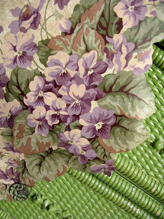 Wallpaper Border Sweet Violets Vintage Waverly Lavender Purple