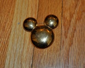 Gold Mickey Mouse pin brooch