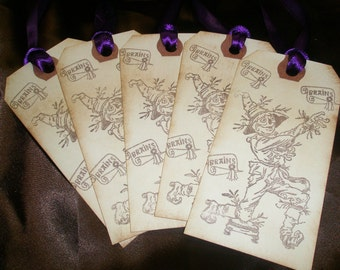Wizard of Oz-Scarecrow-Brains-Gift Tags-Set of 5