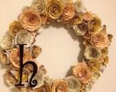 Sheet Music Flower Wreath