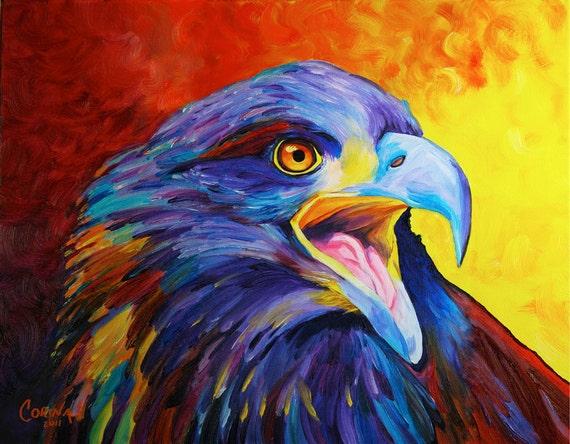 Juvenile Bald Eagle Original Eagle Print 11 X 14 By Corina